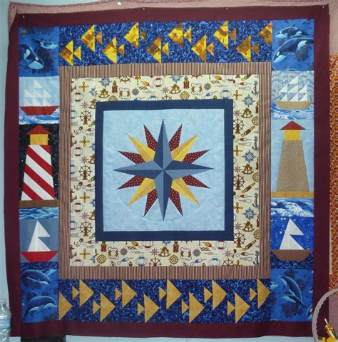 Free Nautical Quilt Patterns by Free Mariner S Compass Pattern Nautical Paper Pieced Quilt Free Mariner S Compass