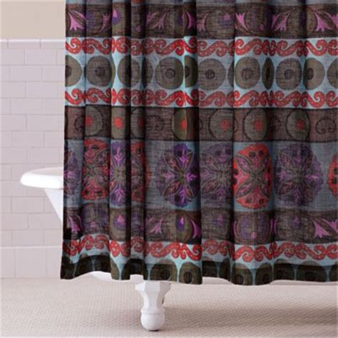 world market suzani curtains gypsy suzani shower curtain mediterranean shower