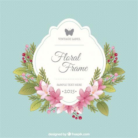 Bingkai Foto Frame Shabby floral frame and vintage label vector free
