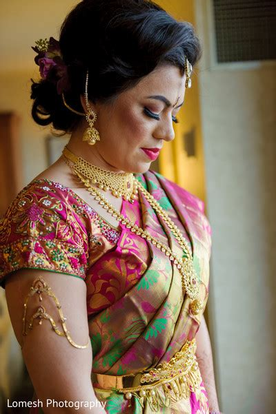 Simple Indian Bridal Hairstyles For Shoulder Length Hair by Dallas Tx Indian Wedding By Lomesh Photography Maharani