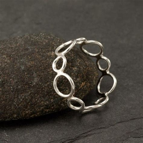 Handmade Sterling Silver Ring - handmade sterling silver ring silver circles ring by
