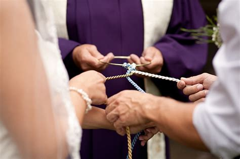 Wedding Ceremony Knot Tying by Intimate Carolina Mountain Wedding With Diy Details