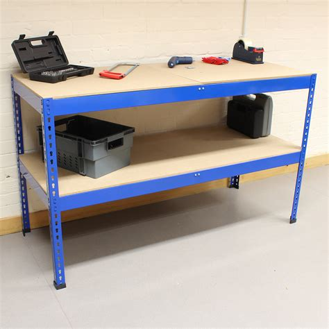 heavy duty steel work benches 1 5m blue heavy duty steel work bench station shelves for