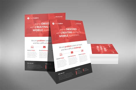 design templates for flyers flat design corporate flyer flyer templates on creative