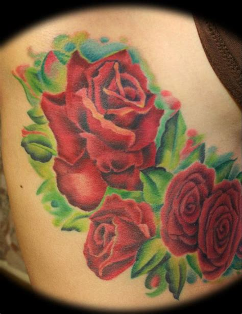 cluster of roses tattoo s roses by fusco tattoos