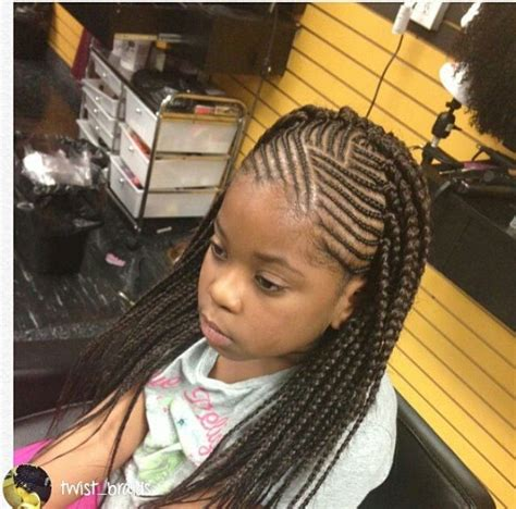 plaited hairstyles for black kids kids cornrows with single plait at the back braids