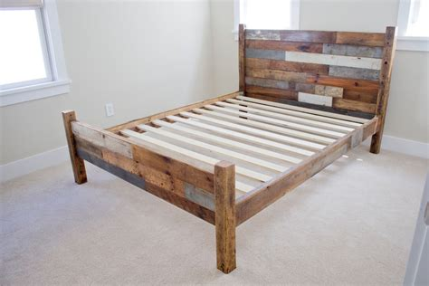 Handmade Bed Frame Plans - diy beautiful wooden pallet bed frame ideas