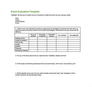 post event evaluation template event evaluation form 9 free documents in pdf