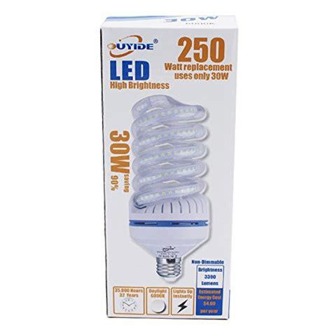 250 watt equivalent led light bulbs ouyide 250 watt equivalent a19 spiral led bulbs 30w
