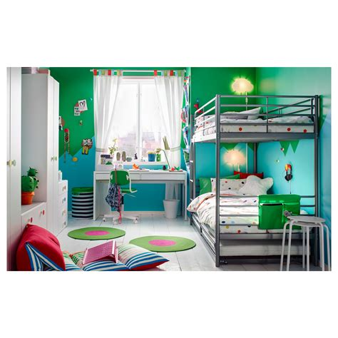 sv 196 rta bunk bed frame silver colour 90x200 cm ikea