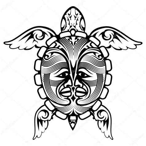 tribal tattoo vectorial tribal totem animal turtle stock vector 51962253