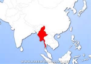 Burma World Map by Burma Location On World Map