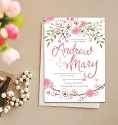 romantic pastel flower wedding invitation instant