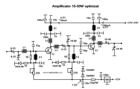 transistor rf lifier circuit gt circuits gt 15w 30w rf power lifier kt922 kt930 kt934
