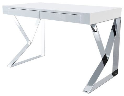 Modern White Lacquer Desk Houston Desk White Lacquer Modern Desks And Hutches By Inmod
