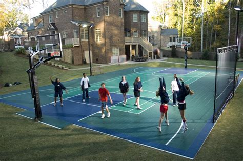 cost to build a backyard basketball court innovative outdoor sport court tile costs for outdoor