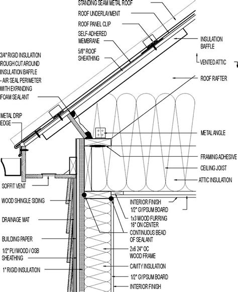 detailed roof section image result for roofing sections arch 305 pinterest