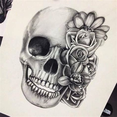 skull and roses  love the black and gray | amazing ink