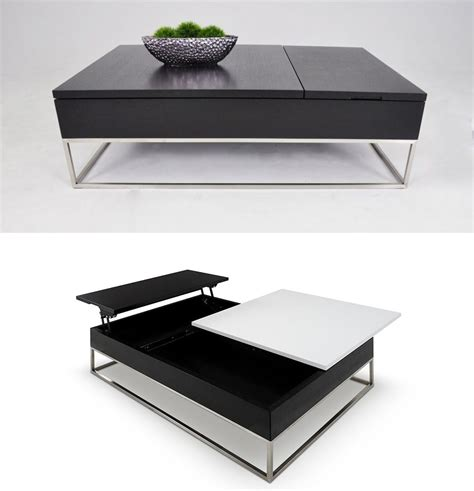 100 coffee table with built in tv tray reclaimed