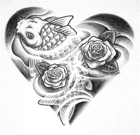 combination tattoo designs combo project koi grayscale by whiterose54 on deviantart