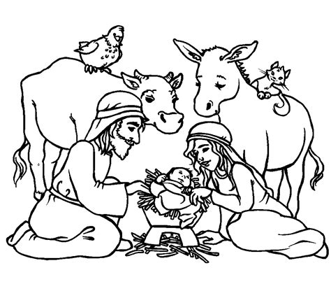 colouring pages christmas jesus religious coloring pictures