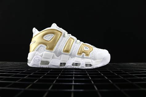 Nike Air More Up Tempo Gold White nike air more uptempo white gold for sale hoop