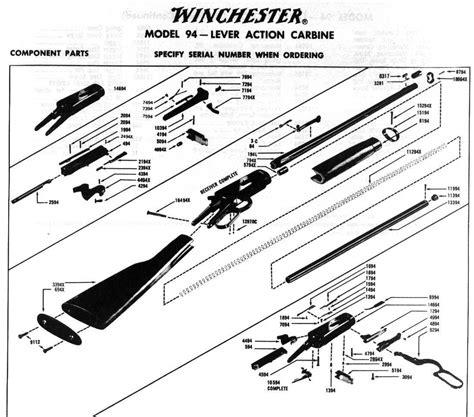 winchester model 94 diagram winchester model 94 pre 1964