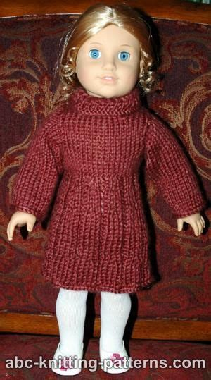 free knitting patterns for american dolls abc knitting patterns american doll dress