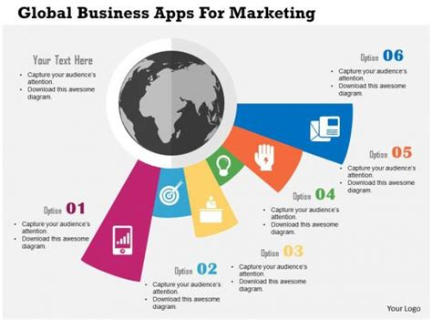 global business apps  marketing flat powerpoint design templates powerpoint