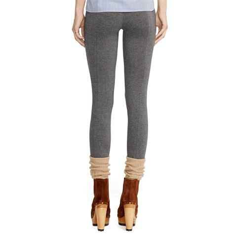 Legging Polos T3009 1 polo ralph stretch cotton blend legging in gray lyst