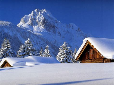 Snowy Cabins by Winter Cabin Wallpapers Wallpaper Cave