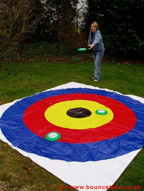backyard frisbee games on target frisbee giant garden game bouncy castle hire 4