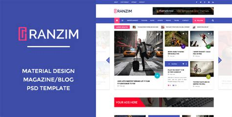 templates blogger material design ranzim material design blog psd template by wpmines