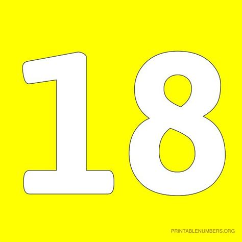 number 18 template image gallery number 18 template