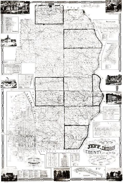Jefferson County Ohio Records Jefferson County Chapter Of The Ohio Genealogical Society Maps