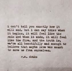 Meaning Of Love Is Blind Rm Drake Quotes