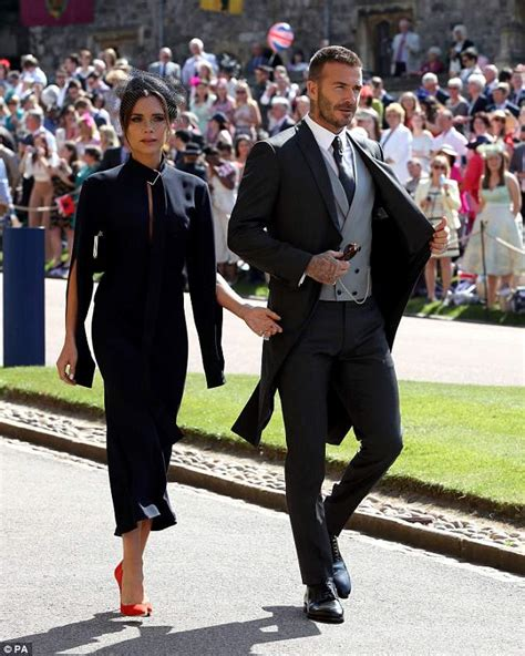 Frock Horror Of The Week The Spice Victorias Secret Carpet Appearance by Beckham Wears Navy Midi Dress For Royal Wedding