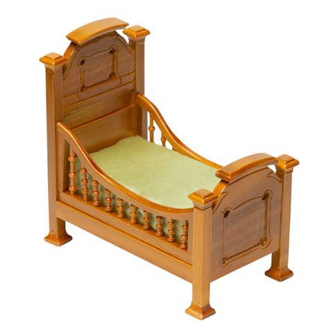dollhouse miniature walnut victorian toddler bed nursery