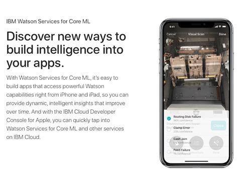 press articles apple core hotels ibm watsonをapple core ml向けに提供 itmedia news