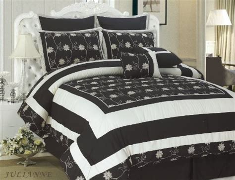 black and cream comforter black and cream bedding grand sales cathay home 8 piece