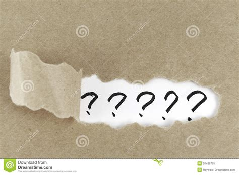 harmann studios ask a photography question in green bay torn paper with question mark royalty free stock photo
