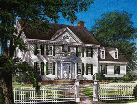 Large Colonial House Plans by Stately Colonial Home Plan 32559wp Architectural