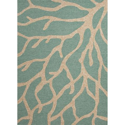 teal and coral rug jaipur living coral teal 5 ft x 7 ft 6 in novelty area rug rug122832 the home depot