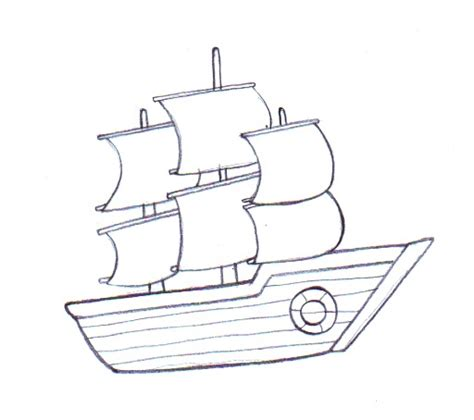 navy boat easy drawing simple boat drawing at getdrawings free for personal