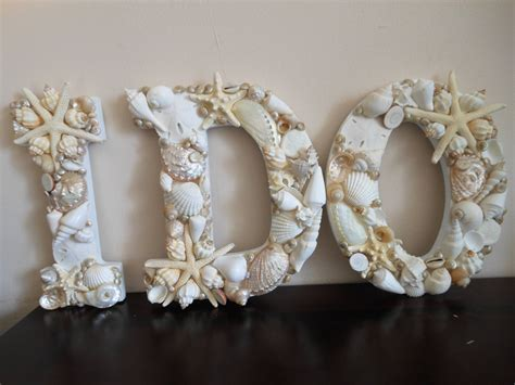 wedding decor seashells seashell letters beac