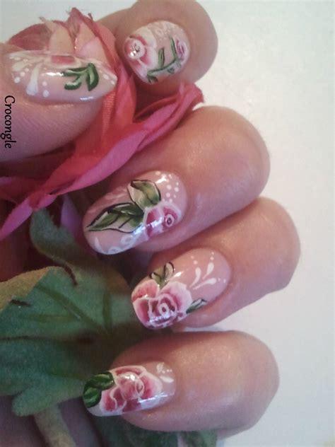 easy nail art one stroke nail art jolies roses romantiques one stroke vernis china