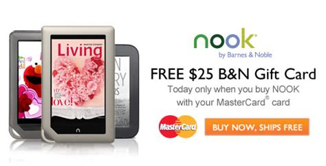 Gift Cards For Nook - barnes noble free 25 gift card wyb any nook kroger krazy