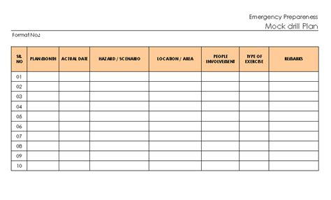 drill template emergency drill report template choice image template