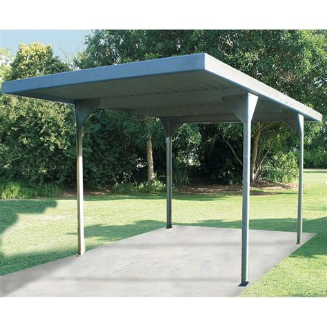 Absco Carports absco sheds 3 0 x 2 25 x 5 5m zincalume skillion roof