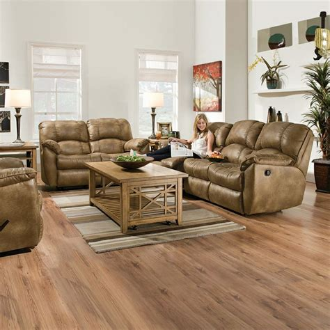 Kimbrells Furniture by Leather Reclining Sofa And Seat In Almond Furniture